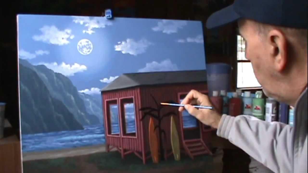 Come dipingere una casa sulla spiaggia con acrilico su for Disegni di casa sulla spiaggia tropicale