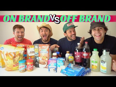 NAME BRAND vs GENERIC FOOD!! (Blind Taste...