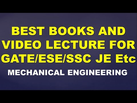 Best Books And Video Lectures For GATE/ESE/SSC JE  Mehanical Engineering  The Infobytes