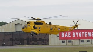 Westland Sea King HAR.3 Royal Air Force arrival at RIAT Friday 11 July 2014 Air Show