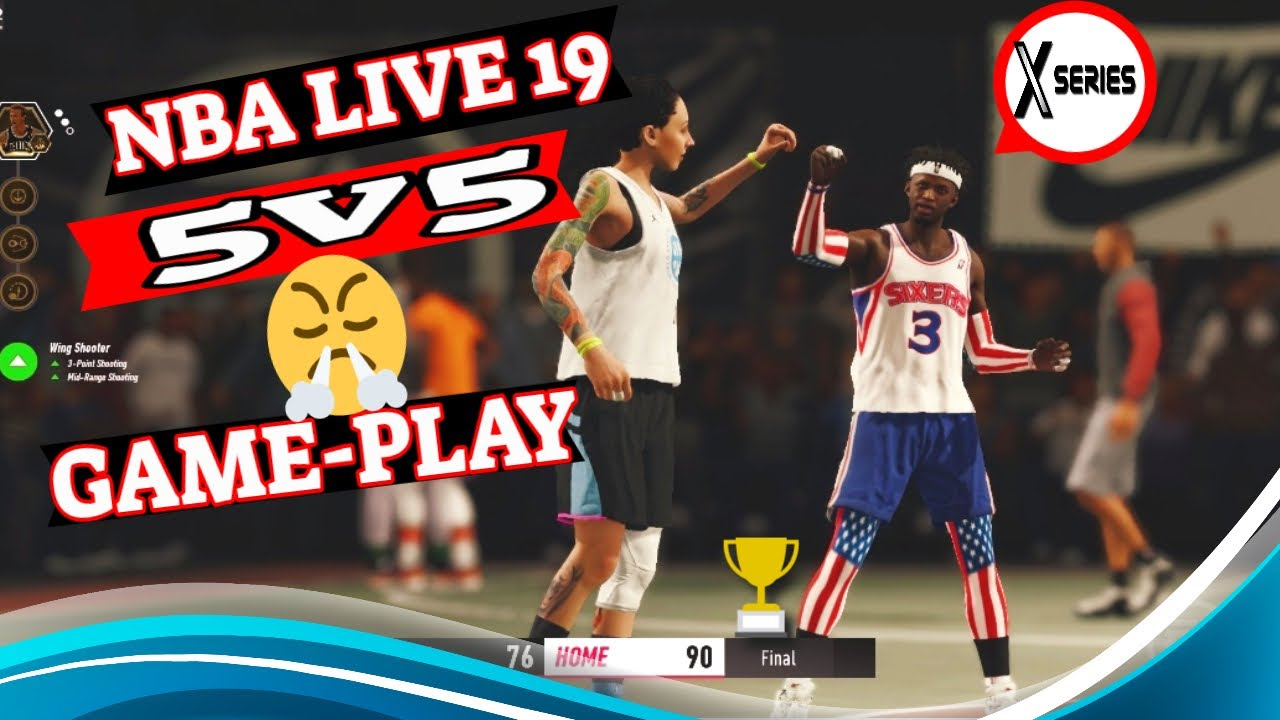 💯 NBA LIVE 19 SERIES X INTENSE 5v5 GAME-PLAY MUST SEE 👀 #XBOXSERIESX #GAMEPLAY #NBALIVE19 #EASPORTS