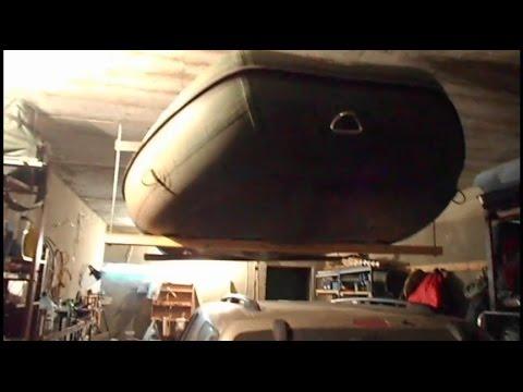 подвесить лодку пвх в гараже видео