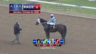 Ajax Downs October 26th, 2020 Race 6