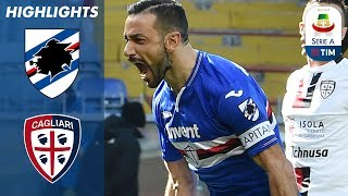 Sampdoria 1-0 Cagliari | Quagliarella Penalty Decides Fiery Contest | Serie A