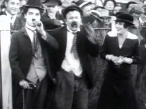 A GENTLEMAN OF NERVE (1914) -- Charlie Chaplin, Mabel Normand, Chester Conklin, Mack Swain 2