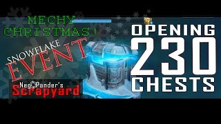 opening 230 chests war robots christmas snowflake event