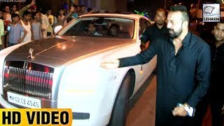 Sanjay dutt arrives in an expensive car at ekta kapoor's diwali party    lehrentv