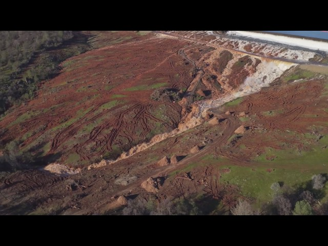 Lake Oroville Emergency Spillway, February 11th 4PM