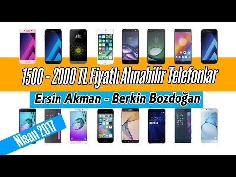 1500 - 2000 TL Fiyatlı Alınabilir Telefonlar