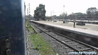 Howrah Chennai Superfast Mail entering Vizianagaram Junction