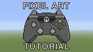 Minecraft Pixel Art Tutorial - Xbox One Controller