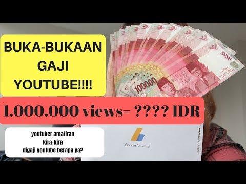BUKA-BUKAAN GAJI YOUTUBE (2019): 1.000.000 Views = IDR?????