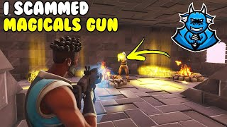 I Scammed Magical Gamer Gun! 😱 (Scammer Gets Scammed) Fortnite Save The World