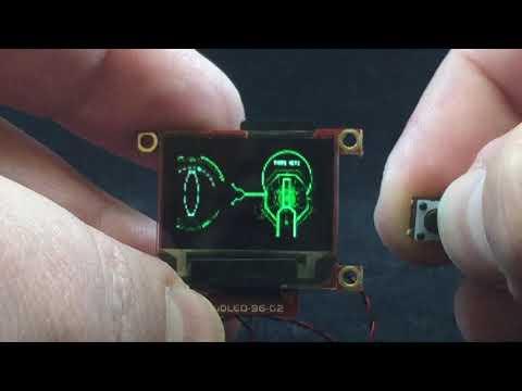 "0.96"" OLED Animated Sci-Fi UI/HUD Video Player"