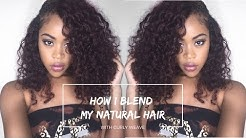 How to Blend Natural Hair with Curly Weave Flawlessly *DETAILED*