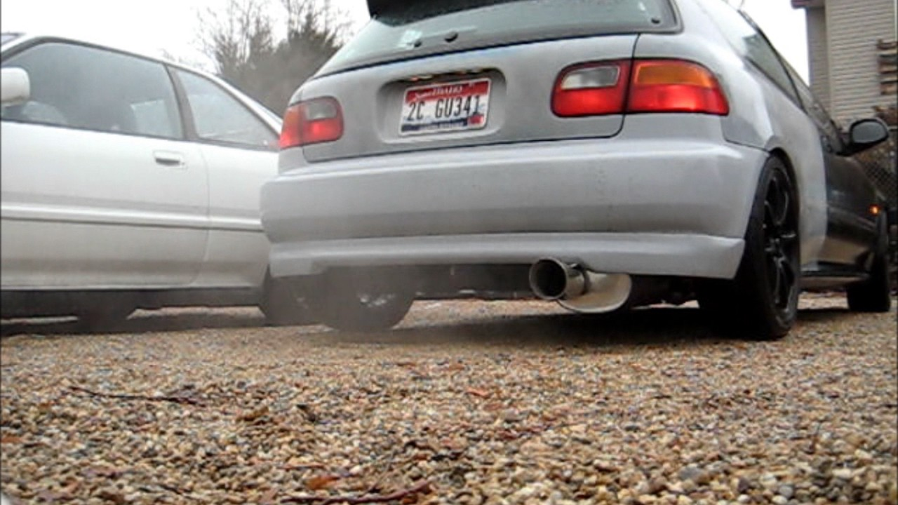 Yonaka 92-95 Honda Civic Hatchback Exhaust - YouTube