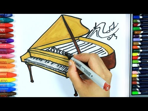 Как нарисовать клавесин