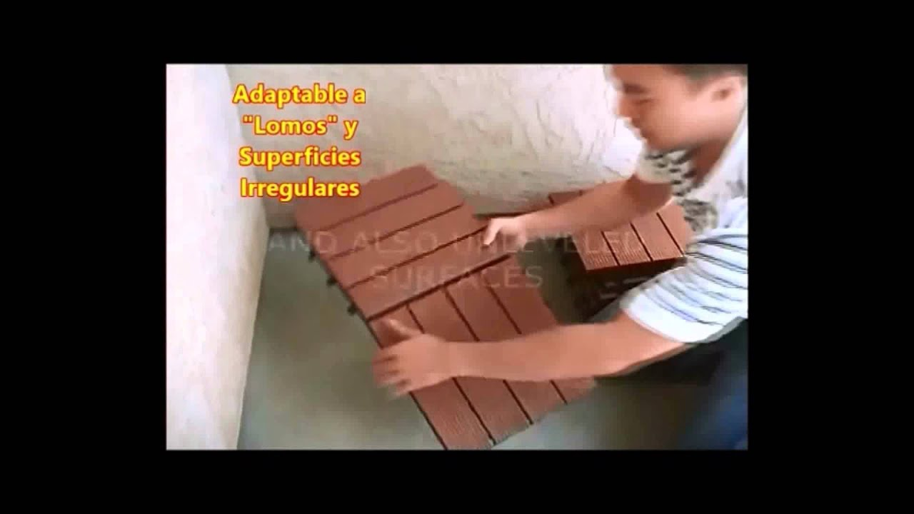 Instalaci n de baldosas de wpc youtube - Baldosas de madera ...