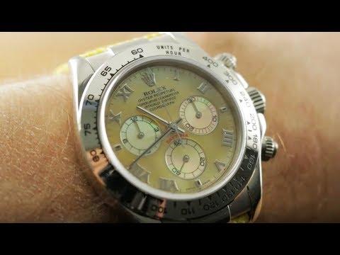 "Rolex Daytona ""Beach"" Mother Of Pearl 116519 Rolex Watch Review"