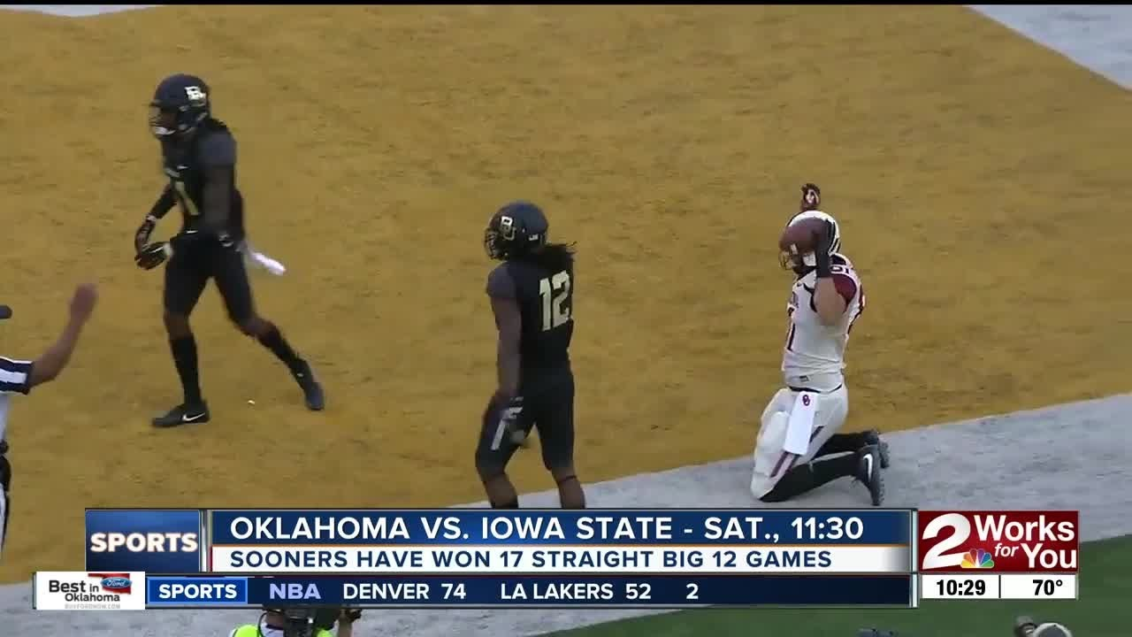 Oklahoma looks for 18th straight Big 12 win against Iowa State - YouTube