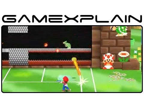 Mario Tennis Open - Super Mario Tennis 1-4 Special Game (Gameplay Footage - Nintendo 3DS)