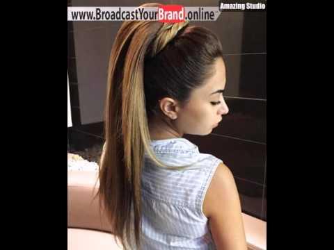 Formal Pony Frisur Für Lange Glatte Haare Youtube