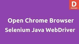 Open Chrome Browser using Selenium 2 Java WebDriver