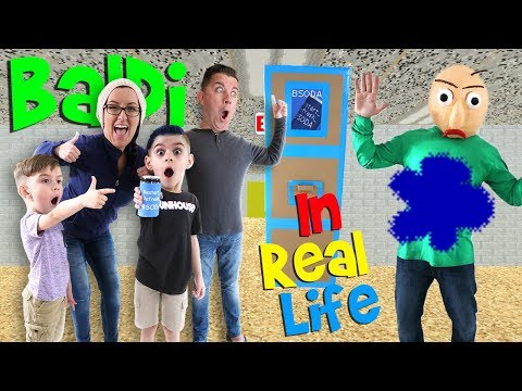 Baldi's Basics Game IN REAL LIFE! With BSODA (FUNhouse Family)