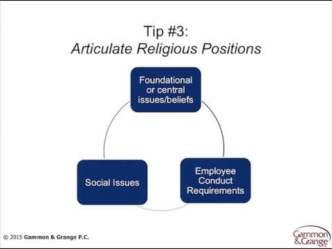 Practical Tips to Articulate Your Church's Religious Identity and to Strengthen Your Legal Rights