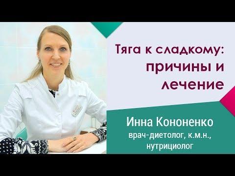 Сильная тяга к сладкому: причины и лечение. Инна Кононенко - врач-диетолог в Санкт-Петербурге
