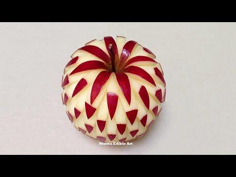 Simple Apple Beautiful Design - Intermediate Lesson 2 By Mutita Art Of Fruit And Vegetable Carving