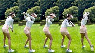 KLPGA 프로 최민채 미녀골퍼의 골프스윙!! 너무 이…