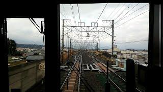 【JR西日本新快速 通過駅が無くても130キロでバイパス路線湖西線を爆走 天気は雨降っては晴れ 晴れては雨】