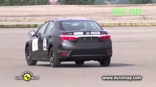 CRASH TEST Euro NCAP Toyota Corolla | 2013 | ESC test