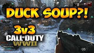 COD WWII - PPSH VARIANT DUCK SOUP!? 3V3 UMG / GB SnD Ardennes Forest Gameplay (WWII Comp)