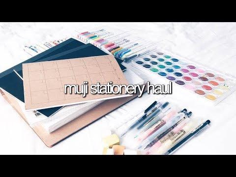 MUJI STATIONERY HAUL || revisign
