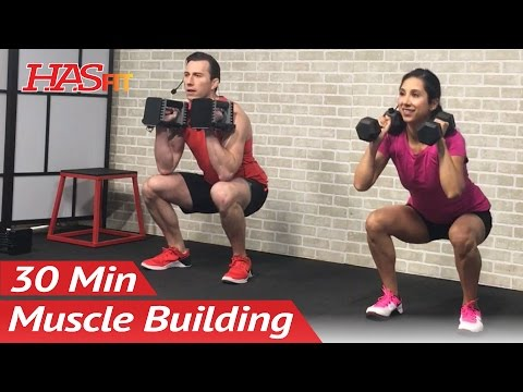 30 Min Home Leg Workout with Dumbbells for Women & Men Bodybuilding Legs Workout at Home Exercises