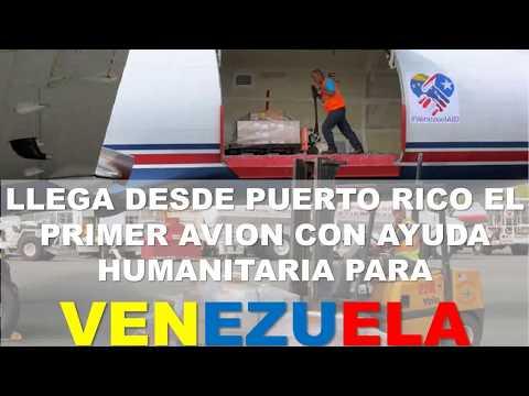 Vídeo envío del primer avión con Ayuda Humanitaria a Venezuela solicitada por Juan Guadó