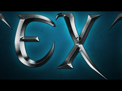 Photoshop Tutorial   How to make Metal Text