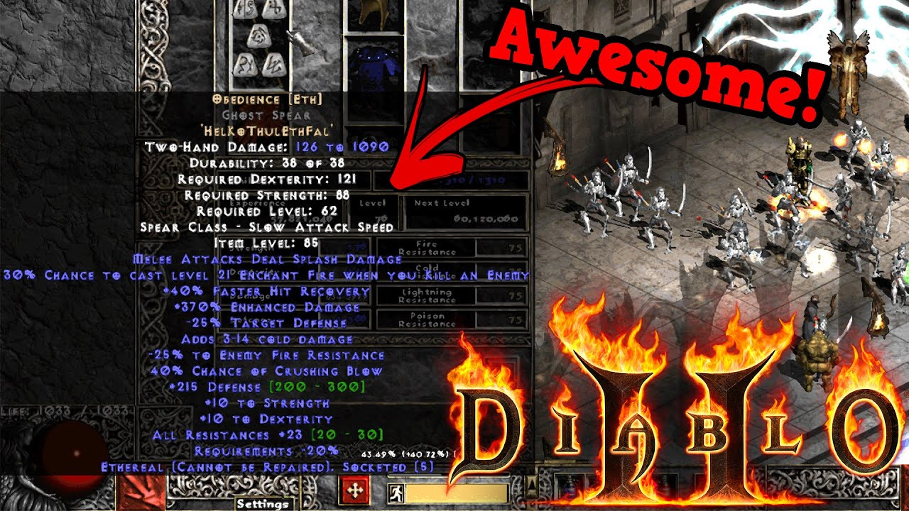 Project Diablo 2 - Making OBEDIANCE RUNEWORD for my SUMMONER!