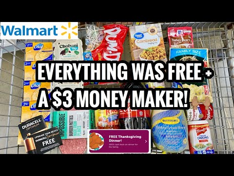 FREE! FREE! FREE! Money Maker Walmart Shopping! No Coupons Required | Grab Your Free Dinner!