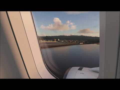 Landing at Phuket Airport [HKT] • Airbus A320 • [Engine View] • MS Flight Simulator