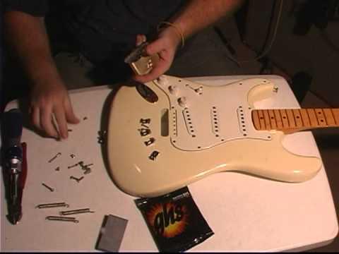 Killer Guitar Components (KGC) Brass Tremolo Block Installation & Demo -  Strat