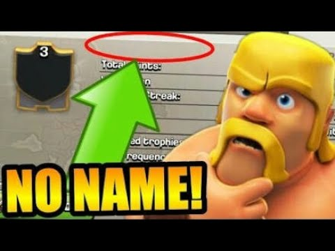How To Make Invisible Name On Coc Account... Watch It