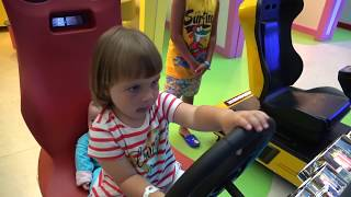 Kids and Baby Born Doll Play on Indoor Playground Funny Stories for Children