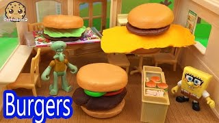 Playdoh Topping Hamburger Toy Surprise + Shopkins Collector Card Blind Bags Cookieswirlc Video