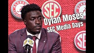 Alabama linebacker Dylan Moses during SEC Media Days: I was born to lead