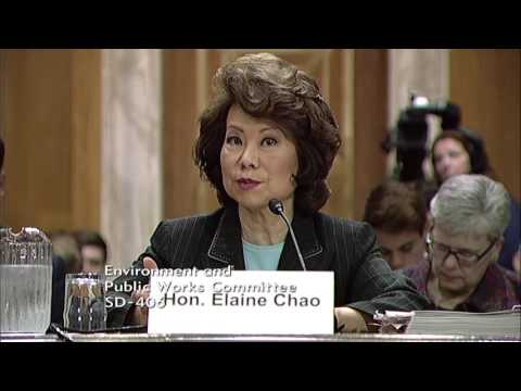 Chairman Barrasso Questions Secretary Chao on Formula Funding for the Infrastructure Plan
