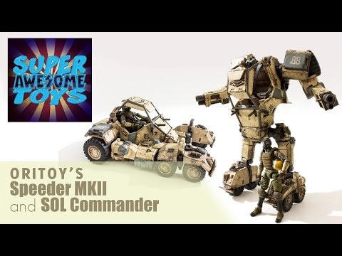 """OriToy's Acid Rain """"Speeder MKII and SOL Commander"""" Action Figure Video Review"""