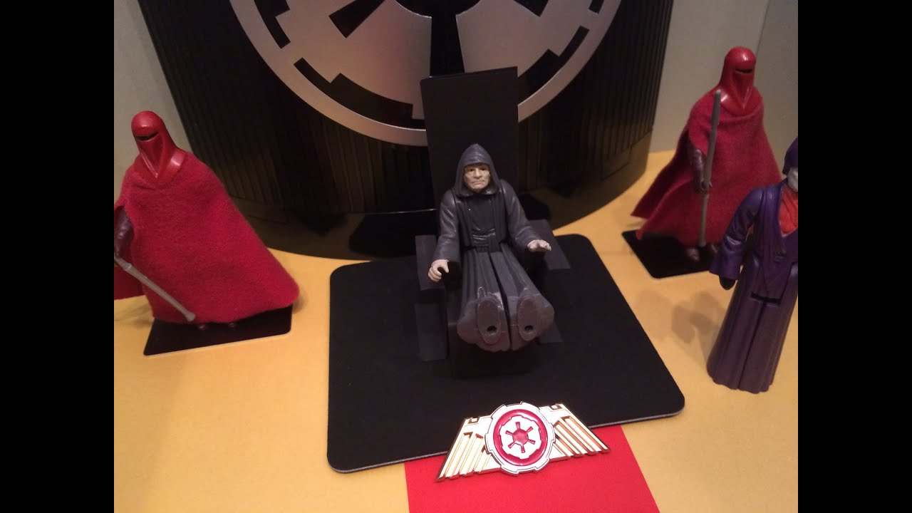 Diorama: Emperor Palpatine's Throne Room on Coruscant ...